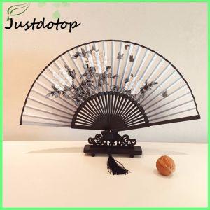 Cadeau souvenir Portable bambou de pliage la main à la promotion du ventilateur
