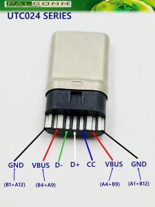 USB2.0 Typ c-männlicher Verbinder, keine gedruckte Schaltkarte, hochwertiger! Produktivität ist hoch! Patent-Produkt. Gewann die Herstellungs-hervorragende Leistung u. die Innovation Awar