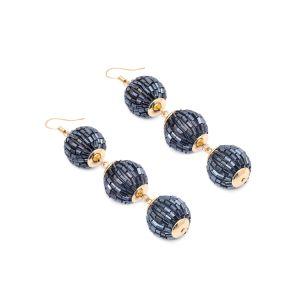 Acessórios de Moda Jóias Artificial queda de esferas de vidro reforçado brincos para mulher