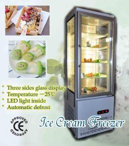 Congelatore di vetro del portello per il gelato