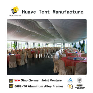Grande Rainproof ignifugação de festas de casamento jantar tenda com parede de vidro