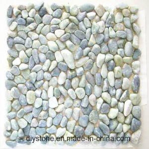 Het blauwe Dunne Bedekken van de Tuin van de Tegel van het Mozaïek van de Kiezelsteen van de Tegel Mini