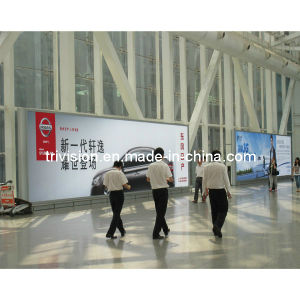 Hintergrundbeleuchtung-Aluminiumlegierung-einzelner seitlicher statischer Flughafen-heller Kasten (TOP-SB71)