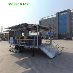 kar van de Aanhangwagen van het Voedsel van de Staaf van 550cm de Openlucht