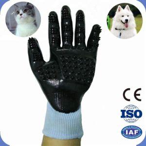 Massage des gants de toilettage pour animaux de compagnie, confortable et respirant