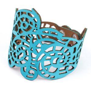 De holle Armband van het Leer van Faux van de Charme van de Juwelen van het Ontwerp In het groot