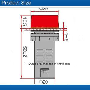 AC220 de 22mm Color Rojo Señal sonora del sistema de alarma el piloto de la luz LED