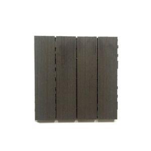 Base de plástico de intertravamento de bricolage exterior deck de madeira mosaico composto de plástico WPC