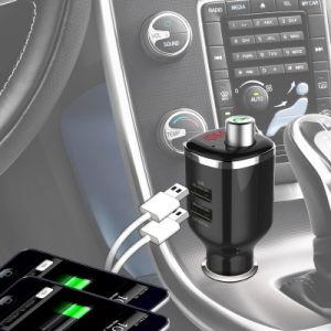 ユニバーサル無線ステレオの可聴周波送信機の受信機Haissky Bc23のための二重USB車の充電器キットのBluetooth FMの送信機