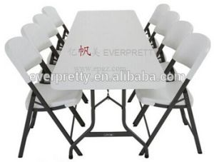 椅子セットが付いているプラスチック屋外の折りたたみ式テーブル