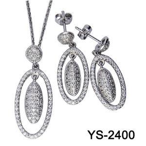 La joyería de moda de aleación de cobre barato Cubic Circonita pendientes establece