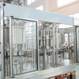Polpa de frutos de sumo de enchimento de lavagem Encher Capping 4NO1 máquina de enchimento de engarrafamento