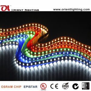 Ce SMD5050-60 LEDs/M, indicatore luminoso dell'UL di striscia di IP67 LED
