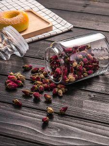 vasi di vetro liberi della caramella di modo con il coperchio di vetro