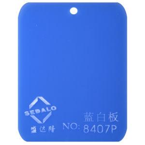 100% virgem material importado em azul e branco a folha de acrílico