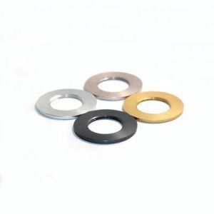 OEM 얇은 금속 알루미늄 세탁기는 노란 편평한 세탁기를 양극 처리했다