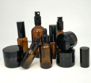 Brown vaso de Embalagem Cosméticos Garrafa de óleo essencial de vaso de perfume