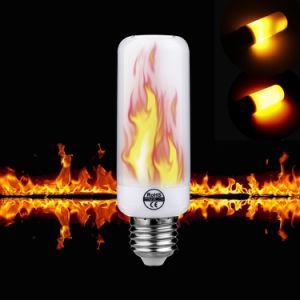 5W E26 de la luz de fuego con 3 modos+Sensor de gravedad LED Bombillas de luz de la llama de llama de fuego