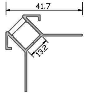За пределами угла светодиодный индикатор профиля, которые могут быть покрыты гипса или керамические,