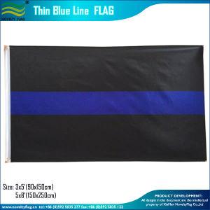 白黒アメリカの警察は薄くするブルーラインフラグ(J-NF05F09317)を