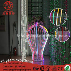 Gli indicatori luminosi di motivo del vaso dell'indicatore luminoso 3D della corda della flessione del segno al neon del LED SMD per l'esposizione le lampade differenti della striscia del LED impermeabilizzano IP65