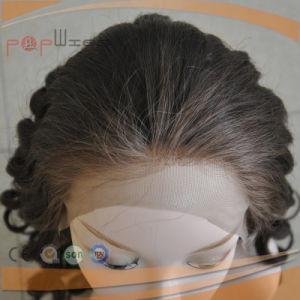 美しいカーリーヘアーのレースの前部毛のかつら(PPG-l-2109)