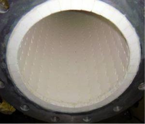 高い摩耗の抵抗力があるアルミナの陶磁器のリングによって並べられる鋼管