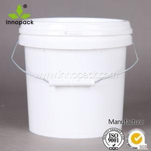 5L durável com diversos tamanhos de Grau Alimentício balde com tampa branca