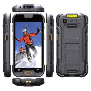 Smartphone resistente à prova de água portátil industrial IP67 Terminal com 1D/2D de Barras Scanner de Código QR do Coletor de Dados.