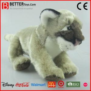 Giocattolo molle del puma dell'animale farcito di ASTM del leone realistico della peluche