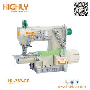 Cilindro de alta velocidade de máquina de costura de intertravamento de cama com dobradora