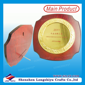 Incidendo intorno alla piastra bassa di legno di piastra metallica della parete del premio (LZY-P012)
