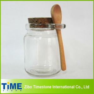 Cork Lid를 가진 8oz 250ml Thick Clear Glass Storage Jar