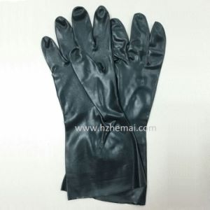 Química Industrial de neopreno negro Guantes de trabajo de mano ... b855e6bac5c