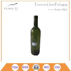 bottiglia di vino di vetro 750ml per l'imballaggio del vino rosso