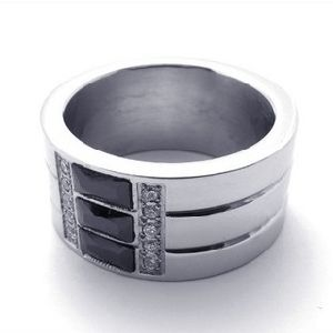 Form-Schmucksachen, Edelstahl-Ring (YC-2137)