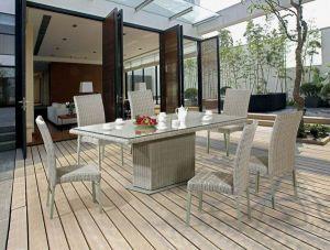 Móveis domésticos mesa de jantar Cadeira de Jantar Jardim/Resina móveis de vime mesa e cadeira para exterior