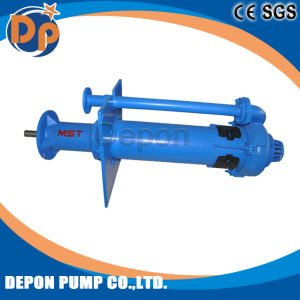 À la verticale de la pompe centrifuge submergé de matières solides du lisier