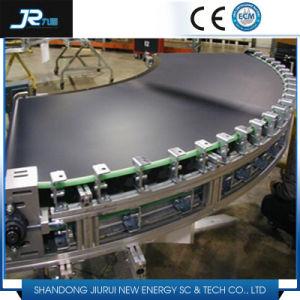 Повернув ПВХ ременной транспортер с воздушная заслонка для производственной линии