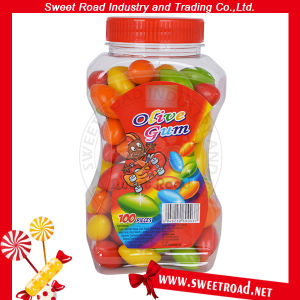 3.8G petits bonbons en forme Olivary Bubble Gum