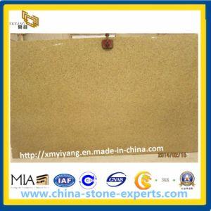 De opgepoetste Roestige Gele Plak van het Graniet voor Countertop van de Keuken en de Bovenkant van de Ijdelheid