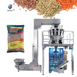 Bolsa de comida seca automática máquina de envasado pesaje lentejas gránulo relleno de sal y pimienta, máquinas de embalaje