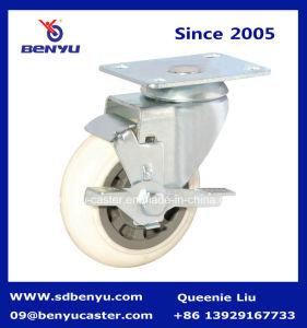 Nouveaux arrivés de l'acier nourriture matérielle en nylon panier roue pivotante