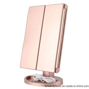 BSCI, Wca, Sqp, Wal-Mart завода сертифицированы три панели сенсорного экрана LED зеркало для макияжа с 16светодиодные индикаторы