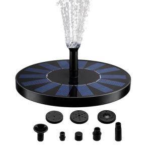 Outdoor Fontaine solaire décoratif pour la petite pompe à eau à bain d'oiseau