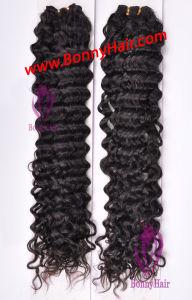 La máxima calidad de la cutícula del cabello humano virgen intacta mano atada de tejido de pelo Hair Extension