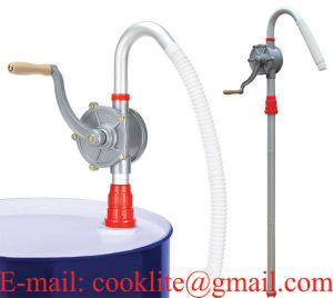 Pompe manuelle rotative en acier inoxydable pour liquides et produits chimiques