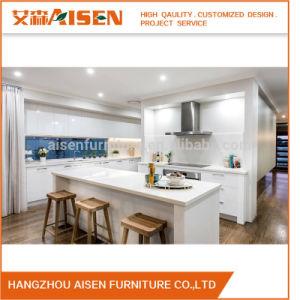 De modieuze en Aantrekkelijke Moderne Witte Keukenkasten van de Lak