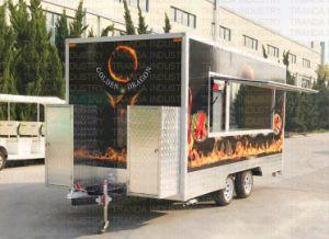 Camion quadrato del hot dog del tubo per il servizio della Nuova Zelanda