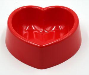 Taça Pet Non-Slip Heart-Shaped Melamina Cor Médio Dog Bowl Suprimentos Pet